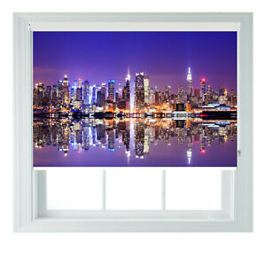 New York City Skyline Printed Photo Black Out Roller Blinds 2 3 4 5 6ft
