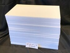 "NEW 20 pcs Styrofoam 9 1/4"" X 14"" X 1/2"" Project Craft School Packing Sheets"