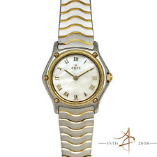 Ebel Classic Wave Mother of Pearl 18K Gold Steel Ref 1057901 Quartz Women Watch