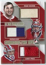 Vachon Roy Price 2013-14 ITG Used Guarding the Net Triple JERSEY Gold /10 *S216