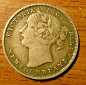 1885 Newfoundland Twenty Cent Piece, Canada
