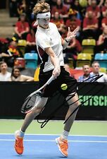 alexander zverev germany in action making a return shot signed 12x8 photo PROOF