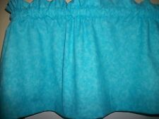 Mottled Turquoise kitchen bedroom kids fabric window topper curtain Valance