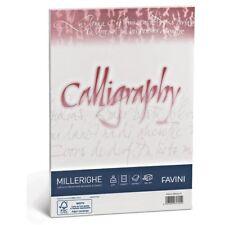 Carta Millerighe Calligraphy Favini - 200gr - A4 Bianca  Conf.50 Fogli