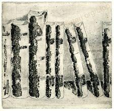 "Artisteri / Llop - ""Libros 3"" - grabado aguafuerte original"