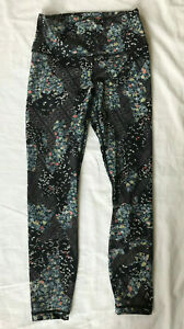 EUC Floral + Butterfly Print LULULEMON Cropped Leggings Size 6