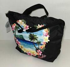 LeSportsac Easy Carry Tote Aloha Sunrise Hawaiian Black 2431 K586
