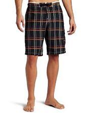 Mens Speedo Classic Plaid E-board Board Shorts Boardshorts Black Size XL