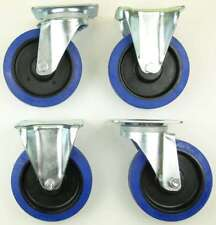 1 Set 160 mm SL 300 kg / Rad Lenkrollen & Bockrollen Blue Wheels Transportrollen