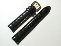 Hadley Roma MS716 18mm Dark Brown Calfskin Lizard Grain Men's Watch Strap
