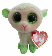 """Ty Basket Beanies Lala the Easter Lamb 4"""" Tall"""