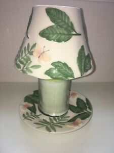 Vintage Bath & and Body Works 2 Pc Set ~ Candle Topper /Plate Island Butterfly
