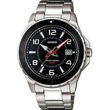 Casio MTD-1074D-1AVEF 100m Stainless Steel Mens Analogue Black Dial