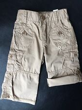New! The Children's Place Girls Military Trousers Shorts / Beige  12 Months