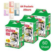 60 Prints Fujifilm Instax Mini Instant Film For Fuji 8 25 7S 50 90 Sp-1 + Album