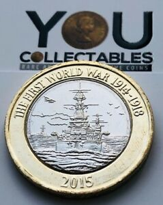 2015 £2 Two Pounds Coin - FIRST WORLD WAR NAVY 1914 -1918 - Rare - Low Mintage