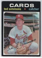 1971 TOPPS TED SIMMONS ROOKIE CARD RC #117 ST. LOUIS CARDINALS GOOD CONDITION