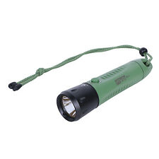 Fitech F8 Cree XML2 LED Rechargeable Diving Light Flashlight Torch - Olive
