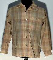 Sir Pendleton 100% Virgin Wool Size Medium Plaid Long Sleeve Button-Front Shirt
