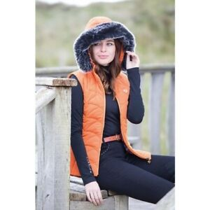 Ladies Small Shires Aubrion Thistledown Gilet - Burnt Orange WAS £69.99