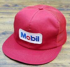 Vintage MOBILE Snapback Trucker Hat Mesh Patch Cap K Products Made in the USA