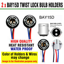 BAY15D CAR BULB HOLDERS BRAKE & TAIL BULBS 380 12V & 24V, TWIST LOCK TYPE