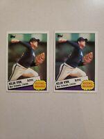 2X 1985 Topps Set Break #7 Nolan Ryan NR-MINT Houston Astros Baseball Card HOF