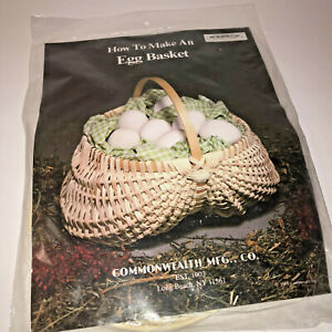 Vtg How to Make an Egg Basket Kit Commonwealth Weaving Basketry Complete 1985