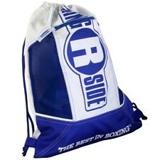 New Ringside Cinch Sack Backpack Gear Gym Equipment Carry Bag - Blue / White