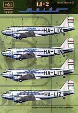 Hungarian Aero Decals 1/72 Malev Hungarian Airlines LISUNOV Li-2 (DC-3)