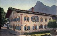 Oberammergau Bayern Oberbayern AK ~1910 Gasthaus weißes Lamm Gasthof Restaurant