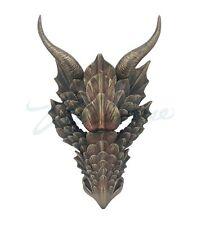 Fierce Dragon Mask Sculpture Wall Plaque