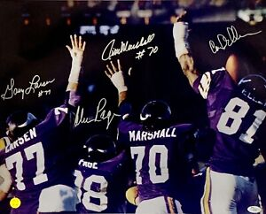 Purple People Eaters Page Eller + Signed 16x20 Photo Autographed PPE and JSA
