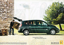 PUBLICITE ADVERTISING 045  2006  RENAULT  SCENIC 7 places  ( 2p)