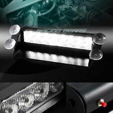 8 LED WHITE EMERGENCY TRUCK DASHBOARD WARNING FLASH STROBE LIGHT BAR UNIVERSAL 6