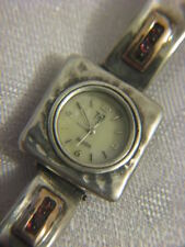 Artisan Gold & 925 Sterling Silver Garnet Bracelet watch Israel