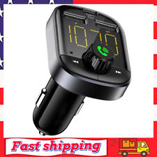 Bluetooth Car Adapter Transmitter FM Audio Receiver Dual USB Type C Car Charger