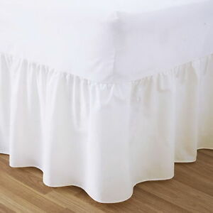 200TC SOLID PLAIN DYED BEDROOM  BED VALANCE SHEET EGYPTIAN COTTON ALL SIZE