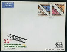 KENYA 1976 30th anniversary East African Airways First Day Cover Airmail