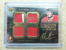 14-15 UD Team Canada Master Collection POE Quad Jersey Auto DOUGIE HAMILTON /99