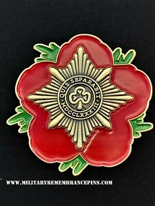Irish Guards IG Remembrance Flower Lapel Pin (P49)