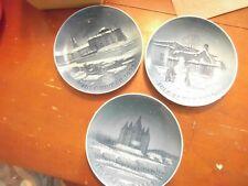 3 Bing & Grondahl Christmas Plates 1952 1954 1955