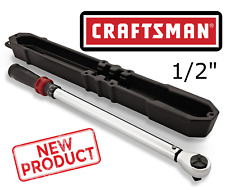 "Craftsman 1/2"" Click Torque Wrench Drive Tool 20-150 Ft lbs Sturdy Car Mechanic"