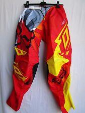 "FOX adult men's 180 RADEON motocross BMX pants size 28"" waist red/yel"