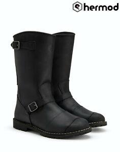 Belstaff Endurance Leather Waterproof Motorbike Motorcycle Boots - Black