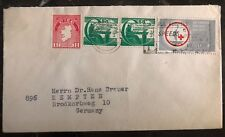1969 Westport England Cover To Kempten Germany Red Cross Stamp