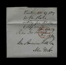 1849 Boston, MA stampless MISSIONARY Heading to Serve the California Gold Rush !