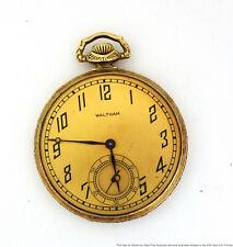 Running 17j Waltham Pocket Watch to Restore Art Deco Mens