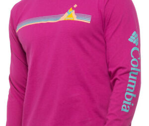 Columbia ~ Chandler Graphic Long Sleeve T-Shirt Men's Medium $36 NWT