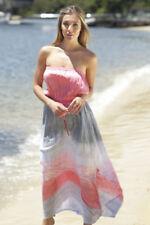 Rayon Stripes Machine Washable Dresses for Women's Maxi Dresses